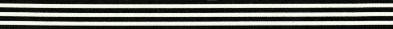 black and white striped washi tape piece