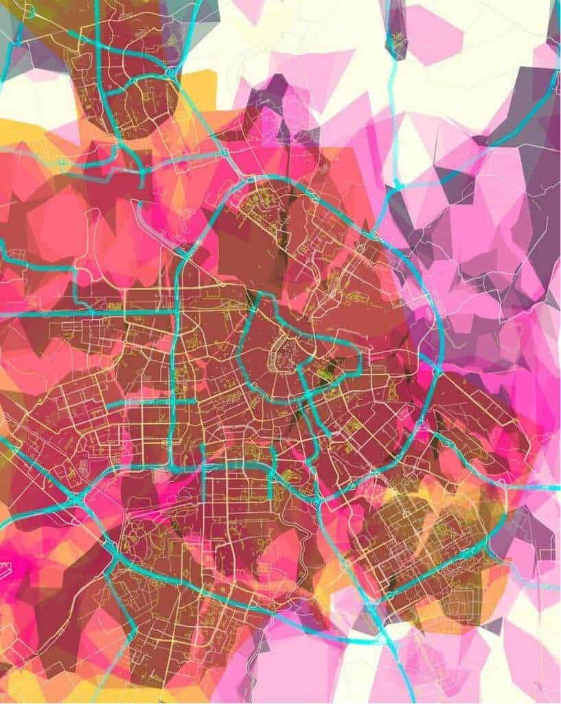 beautiful map art by Prettymaps