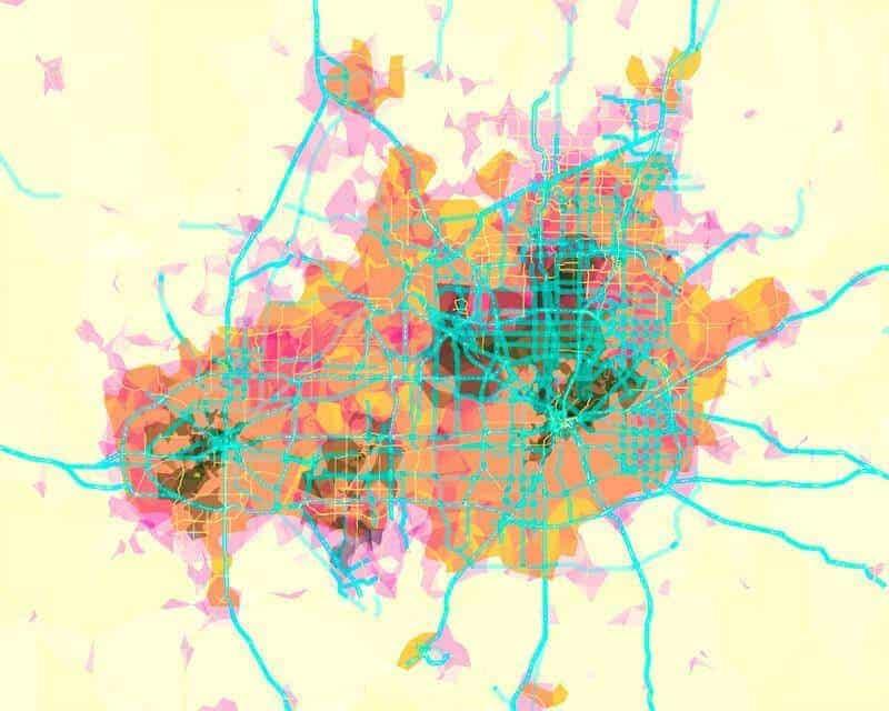 Dallas Forth Forth map art