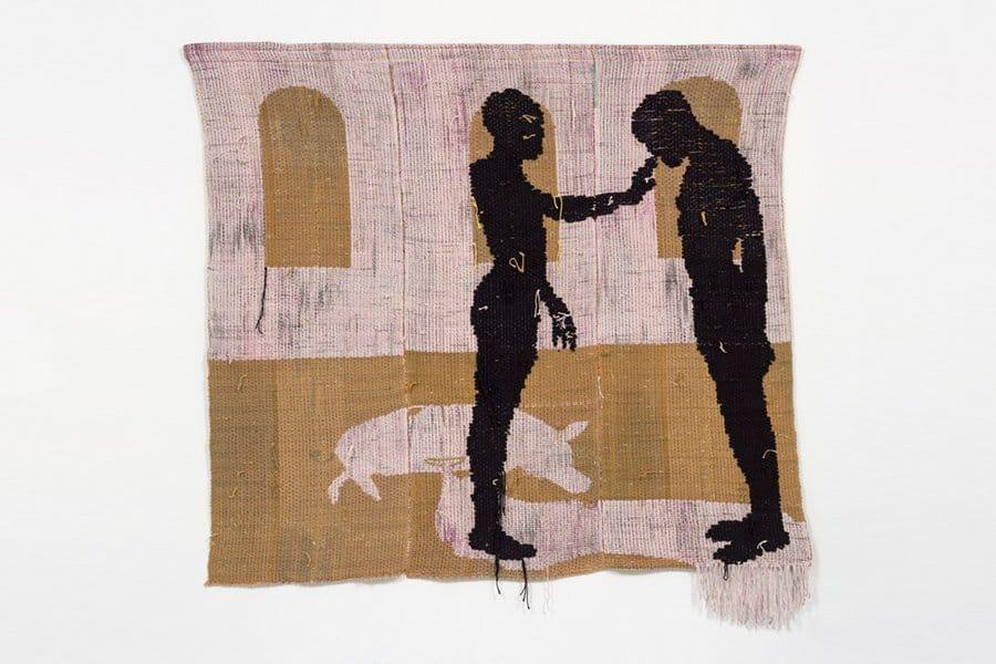 Figural weaving by Diedrick Brackens