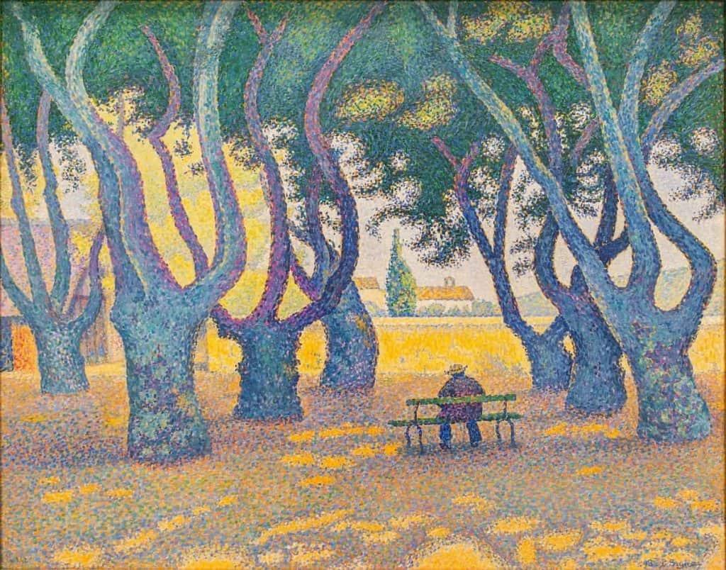Pointillism art - Place Des Lices by Paul Signac