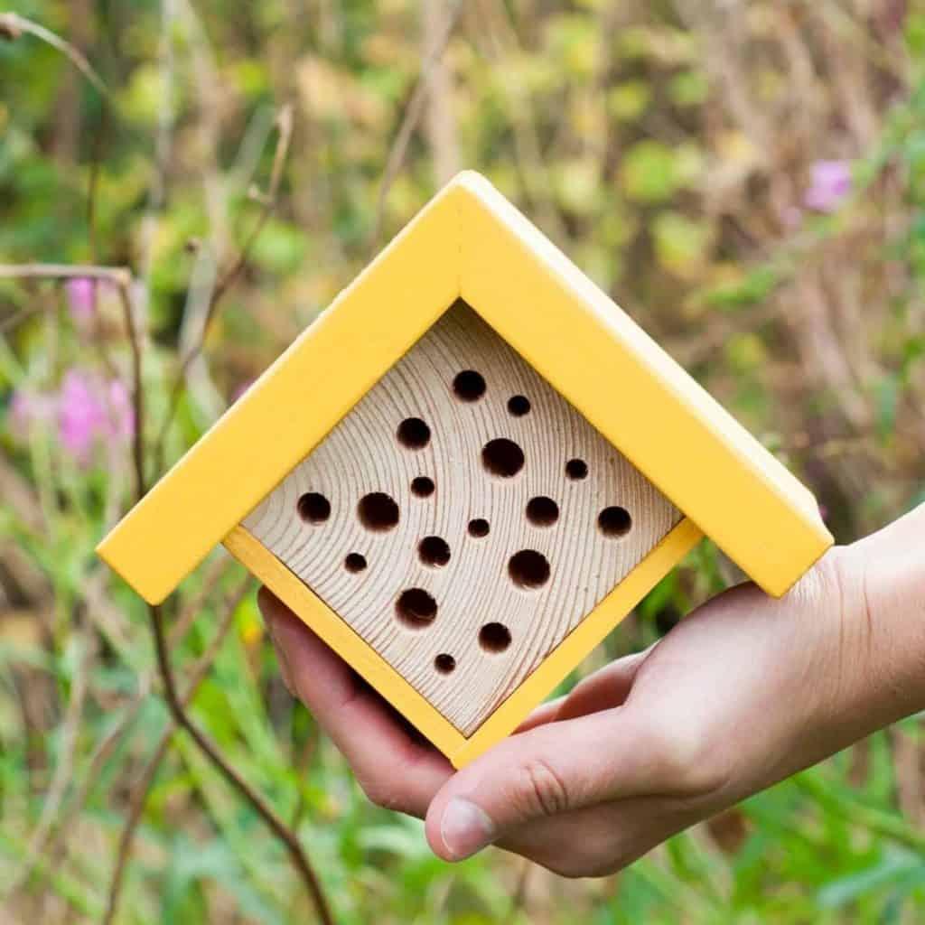 handmade bee hotel on Etsy