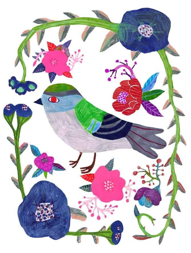 Monika Forsberg bird art