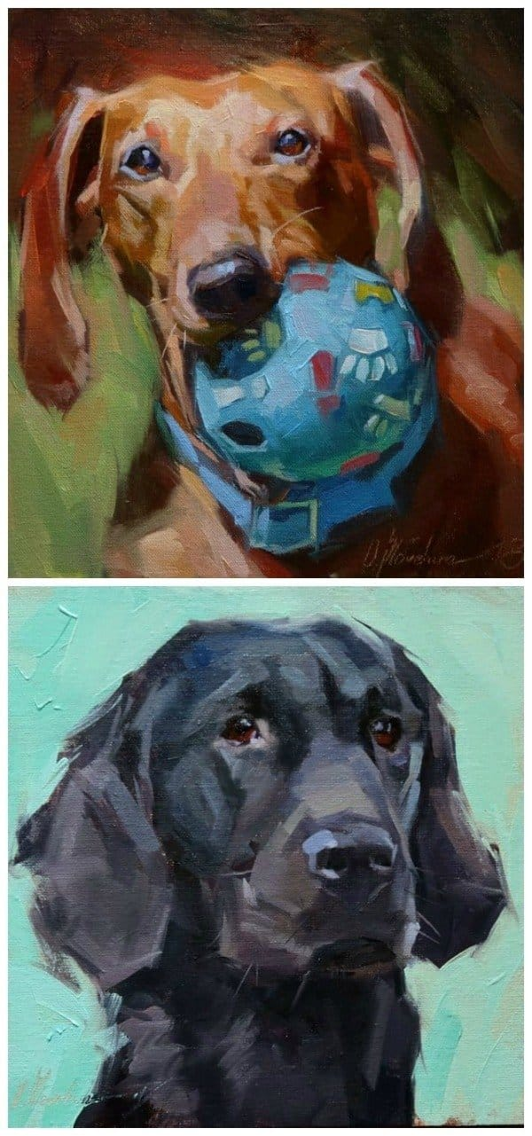 Custom dog portraits by Ukrainian artist Oleksii Movchun