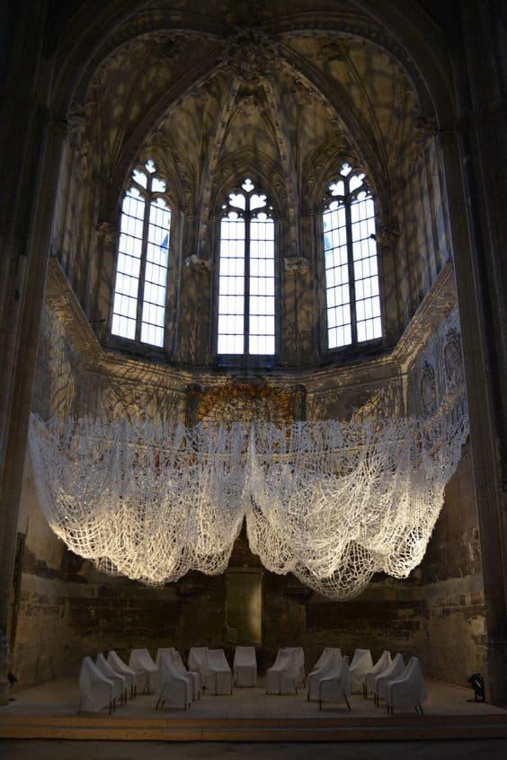 Artist Rieko Koga installation art